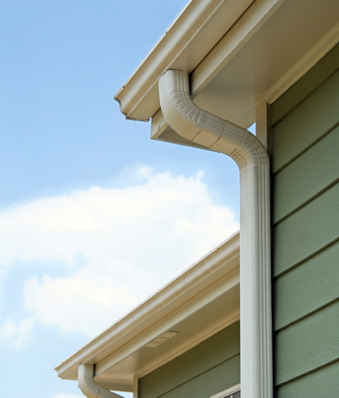 aluminum house gutters and downspouts